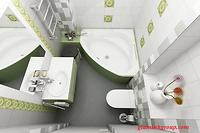 Bồn tắm góc loại nhỏ - sự lựa chọn thông minh cho phòng tắm hẹp