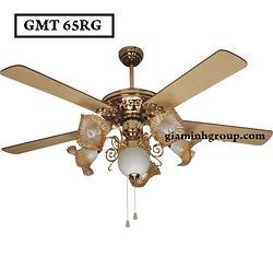 Quạt trần đèn trang trí cánh gỗ GMT 65RG