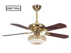 Quạt trần đèn trang trí cánh gỗ GMT 7PLG