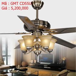 Quạt trần đèn trang trí GMT CD55U giả cổ
