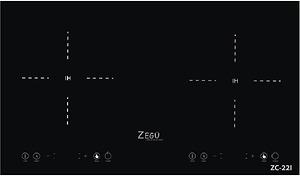 Bếp từ Zegu ZC 22I sử dụng mặt kính Crytal