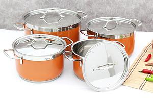 Bộ 4 nồi inox cao cấp sắc màu Fivestar FS08CM