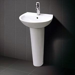 Chậu rửa chân dài Inax L-285V+L-288VD (Màu trắng)
