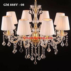 Đèn chùm nến pha lê GM 888V - 08