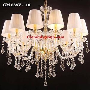 Đèn chùm nến pha lê GM 888V - 10