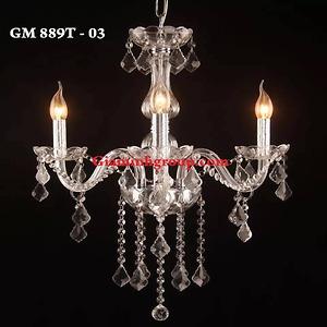 Đèn chùm nến pha lê GM 889T - 03