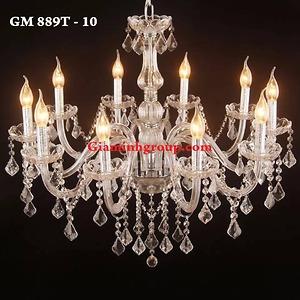 Đèn chùm nến pha lê GM 889T - 10