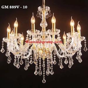 Đèn chùm nến pha lê GM 889V - 10