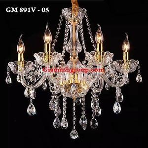 Đèn chùm nến pha lê GM 891V - 05
