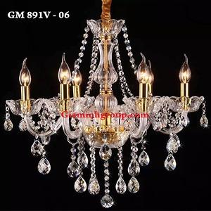 Đèn chùm nến pha lê GM 891V - 06
