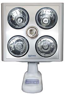 Đèn sưởi nhà tắm Kottmann bạc 4 bóng treo tường