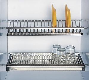 Giá để bát đĩa inox trong tủ bếp KT 800