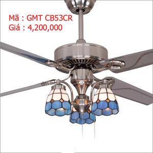 Quạt trần đèn bốn cánh trang trí GMT CB53CR