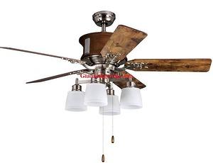 Quạt trần đèn trang trí cánh gỗ GMT 8030