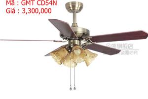 Quạt trần đèn trang trí cánh gỗ GMT CD54N