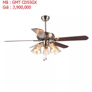 Quạt trần đèn trang trí cánh gỗ GMT CD55GX