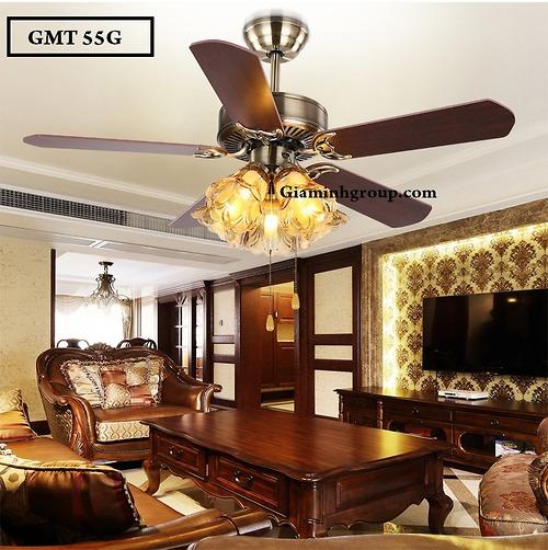 Quạt trần trang trí cánh gỗ GMT 55G