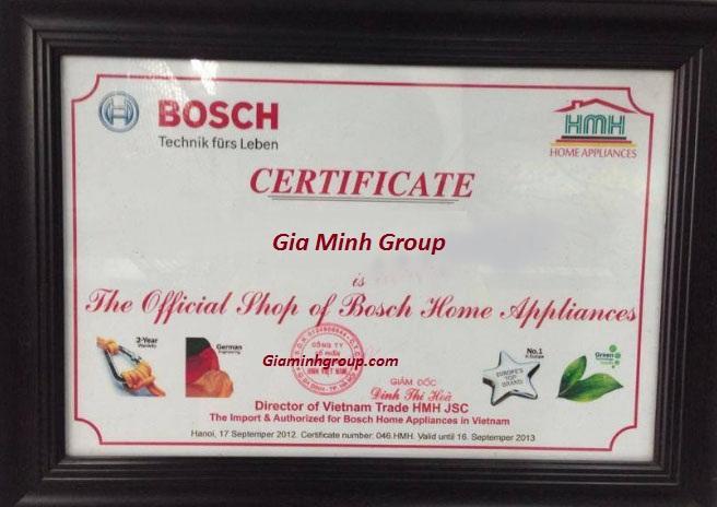 Giấy chứng nhận đại lý cấp I của Bosch