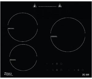 Bếp từ Zegu CZ 30I chịu được nhiệt độ 800 độ C
