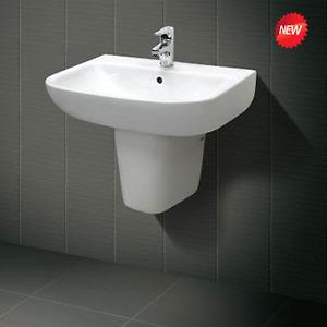 Chậu rửa chân lửng Inax L-298V+L-298VC (Màu trắng)