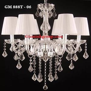 Đèn chùm nến pha lê GM 888T - 06