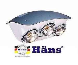 Đèn sưởi nhà tắm hồng ngoại Hans 3 bóng