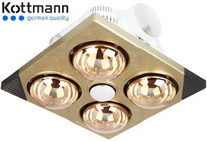 Đèn sưởi nhà tắm Kottmann 4 bóng âm trần 2015