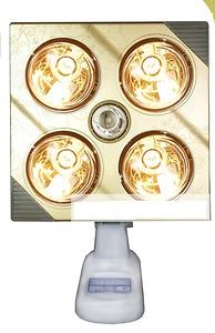 Đèn sưởi treo tường Kottmann 4 bóng mạ vàng