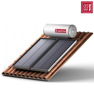 Máy nước nóng năng lượng mặt trời Ariston tấm phẳng đôi 300L mái nghiêng