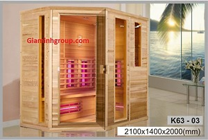Phòng xông hơi khô bằng tia hồng ngoại Govern K63-03