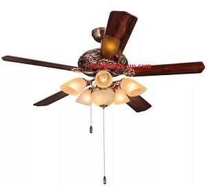 Quạt trần đèn trang trí cánh gỗ GMT 8031