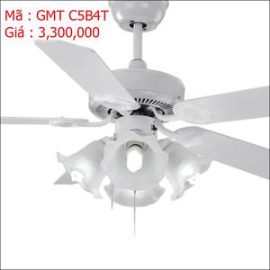 Quạt trần đèn trang trí cánh gỗ GMT CD5B4T