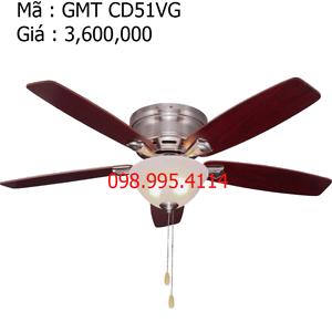 Quạt trần đèn trang trí cánh gỗ GMT CD51VG